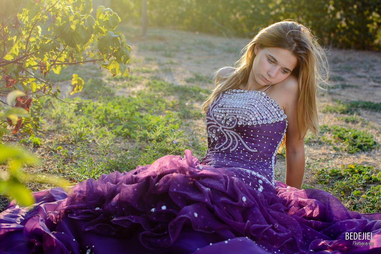 Princesse pensive un soir d'été