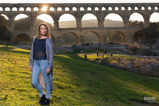Portrait Femme Pont du Gard