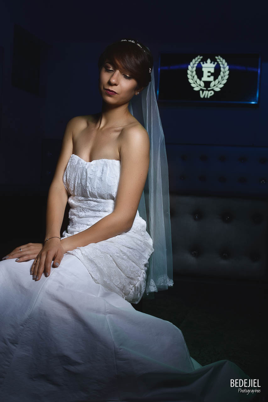 Photo mariée en studio