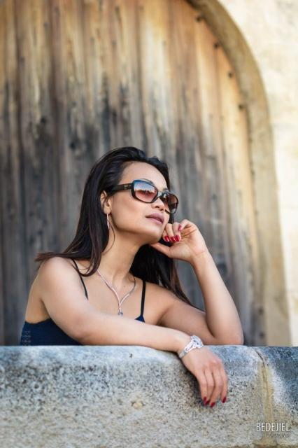 Portrait fashion lunette de soleil