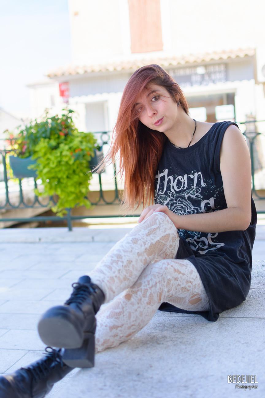 Femme rock street