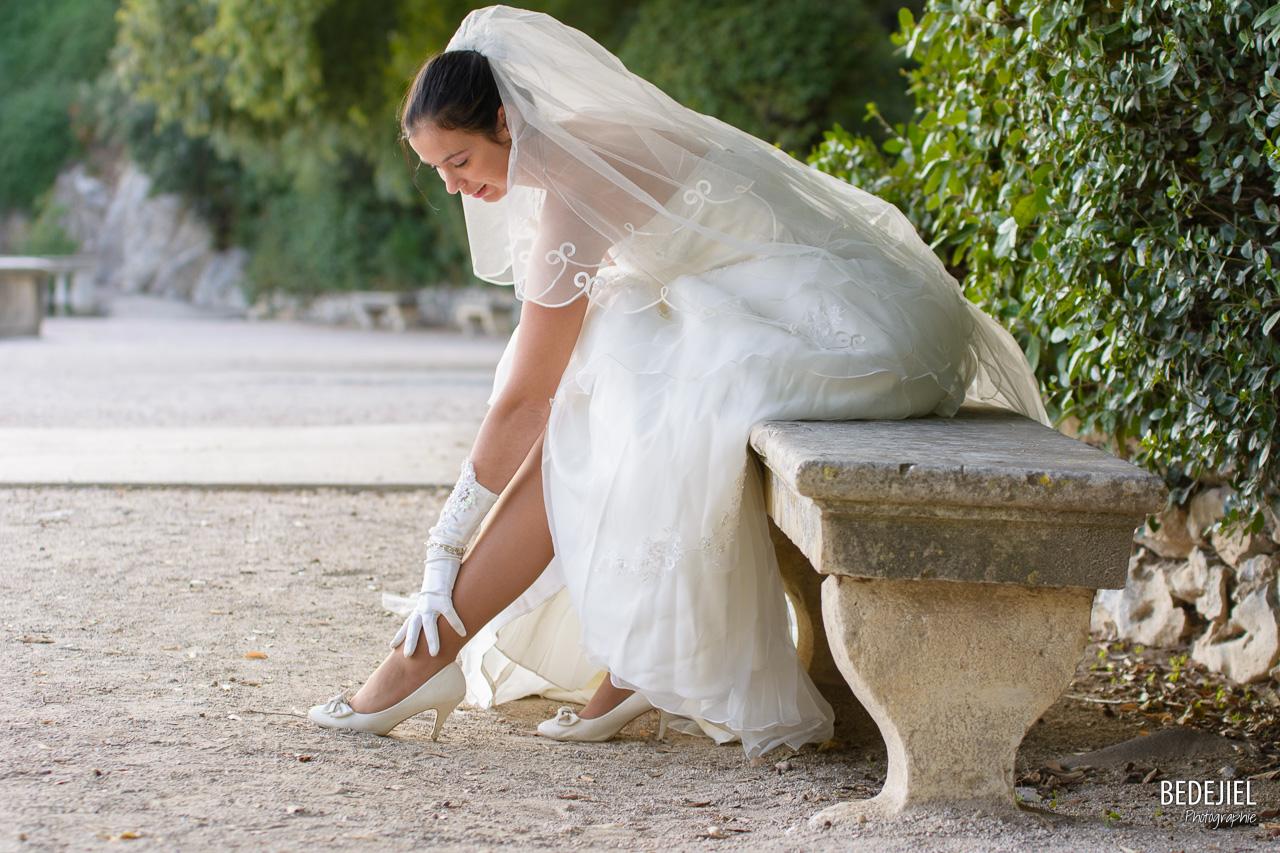 La mariée est en blanc