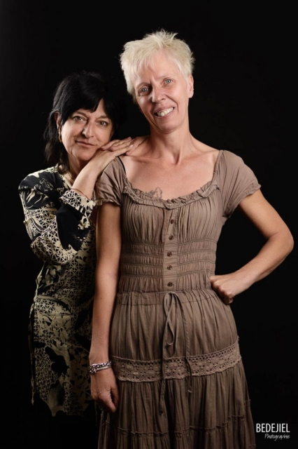 Portrait duo femme studio
