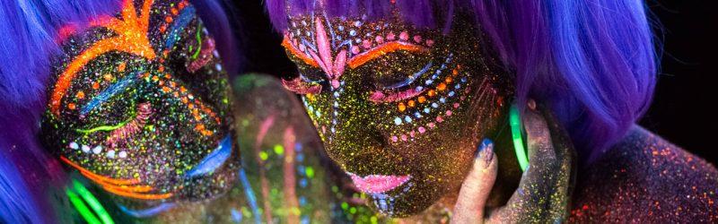 Portrait femme UV