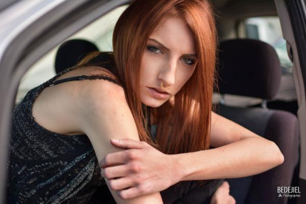 Fashion woman car