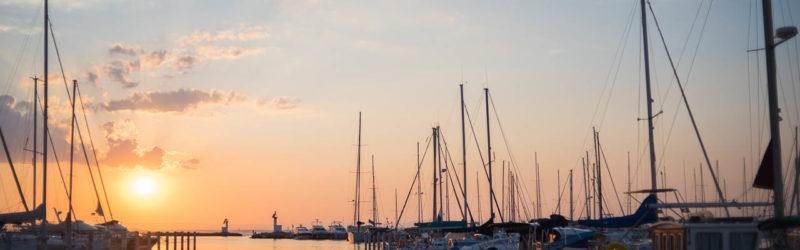 Grau du Roi - Coucher de soleil au port