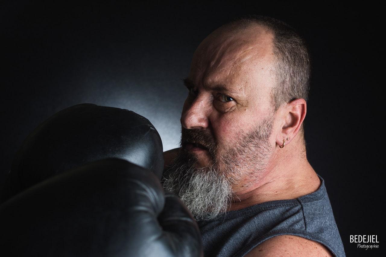 Portrait d'un boxeur