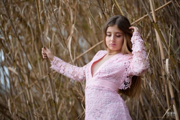 Portrait femme - La robe rose